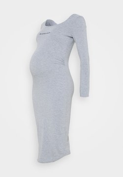 Missguided Maternity - LONG SLEEVE DRESS - Vestido ligero - grey marl
