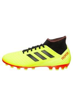 adidas Performance - PREDATOR 18.3 AG - Botas de fútbol con tacos - solar yellow/ core black/ solar red
