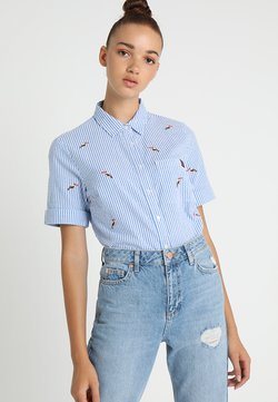 Superdry - KAYLA CROPPED BOXY - Camisa - blue/white