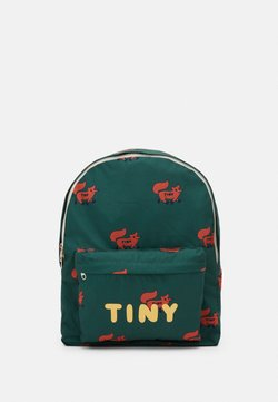 TINYCOTTONS - FOXES BIG BACKPACK - Reppu - dark green/sienna