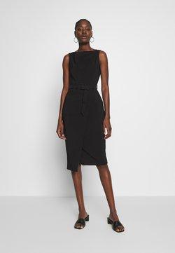 Dorothy Perkins - BELTED WRAP DRESS - Vestido de tubo - black