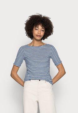 Marc O'Polo - SHORT SLEEVE BOAT NECK - T-Shirt print - multi/lake blue