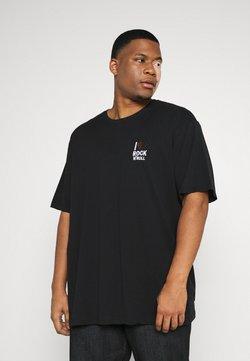 Jack´s Sportswear - CHEST EMBROIDERY TEE - T-shirt imprimé - black