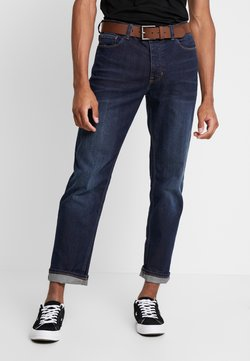 Burton Menswear London - BELTED - Straight leg jeans - mid blue