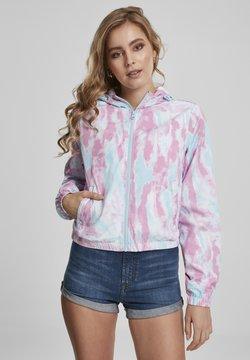 Urban Classics - Windbreaker - aqua blue/pink