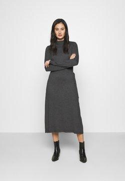 Vero Moda - VMSHARM HIGHNECK DRESS VIP - Abito in maglia - dark grey melange