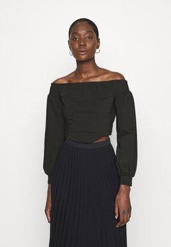 Who What Wear - OFF THE SHOULDER CORSET - Bluzka - black