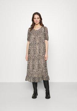 Selected Femme - SLFTILDA MIDI DRESS - Freizeitkleid - smoke gray