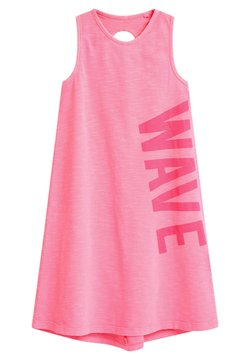 Next - SLEEVELES - Jerseykleid - pink