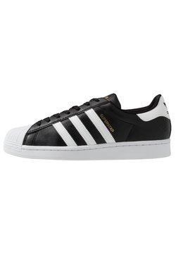 adidas Originals - SUPERSTAR VEGAN - Sneakers - core black/footwear white/gold metallic