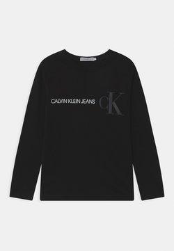 Calvin Klein Jeans - REFLECTIVE LOGO  - Long sleeved top - black