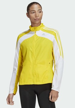 adidas Performance - MARATHON 3-STRIPES JACKET - Chaqueta de entrenamiento - yellow