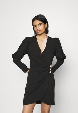 Miss Selfridge - PUFF SLEEVE TUX DRESS - Vestido de cóctel - black
