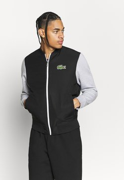Lacoste Sport - BOMBER JACKET - Giacca sportiva - black/silver chine/white