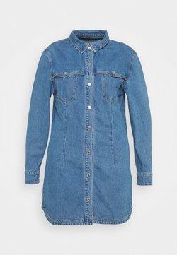 Missguided Plus - WESTERN YOKE DRESS - Jeanskleid - blue