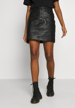 River Island - WESTERN SKIRT - Pencil skirt - black