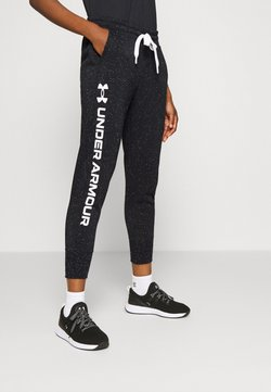 Under Armour - RIVAL SHINE JOGGER - Jogginghose - black