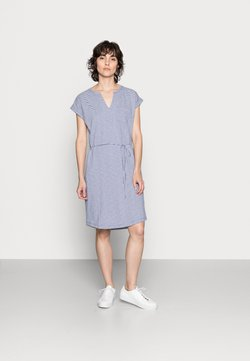 Part Two - ILIMA - Jersey dress - gray blue stripe