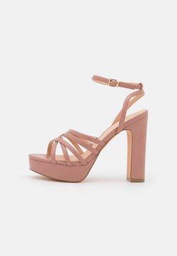 Even&Odd Wide Fit - Korkeakorkoiset sandaalit - light pink