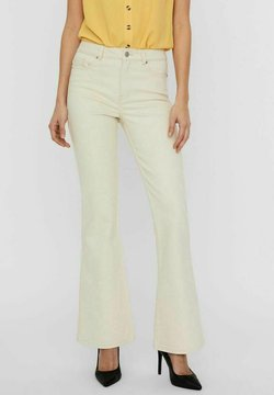 Vero Moda - Jeans a zampa - ecru