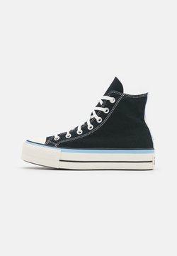 Converse - CHUCK TAYLOR ALL STAR FLORAL FUSION PATCH PLATFORM - Zapatillas altas - black/blue/egret