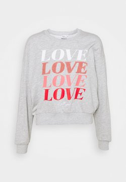 ONLY - ONLLOVE LIFE O NECK - Sweatshirt - light grey