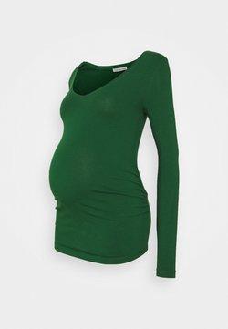 Anna Field MAMA - V NECK BASIC LONG SLEEVE TOP - Langarmshirt - green