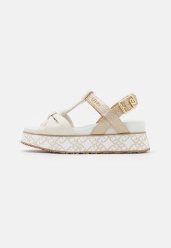 Liu Jo Jeans - Sandali con plateau - white/light gold
