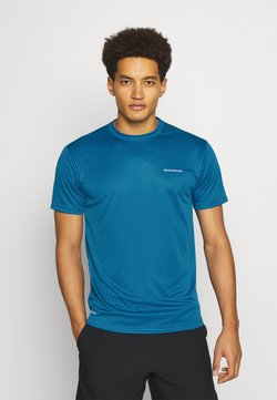 Endurance - VERNON PERFORMANCE TEE - Camiseta básica - mykonos blue