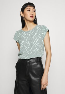 ONLY - ONLVIC - T-Shirt print - chinois green/karo
