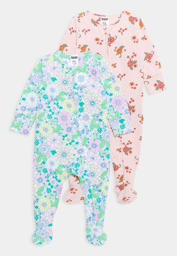 Cotton On - LONG SLEEVE ZIP ROMPER 2 PACK UNISEX - Pyjama - multicolor
