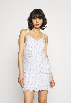 Hollister Co. - BARE RUCHED SHORT DRESS - Freizeitkleid - white