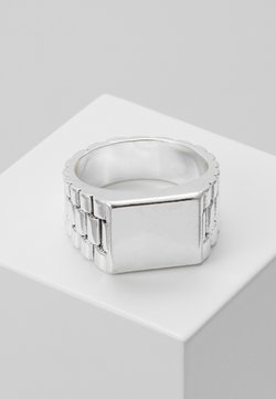 Wild For The Weekend - WATCH STRAP RECTANGLE - Bague - silver-coloured