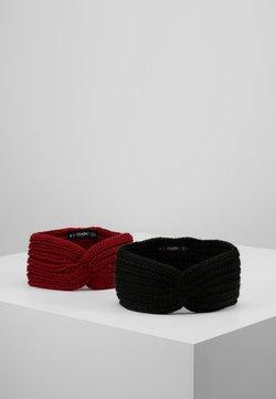 Even&Odd - 2 PACK - Oorwarmers - black/red