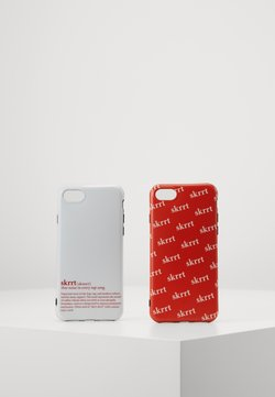 Urban Classics - PHONE CASE SET - Etui na telefon - white/red