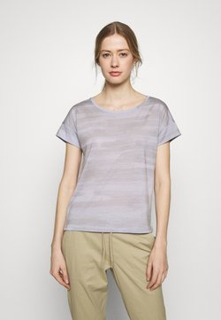 Icebreaker - VIA SCOOP - T-Shirt print - mercury heather