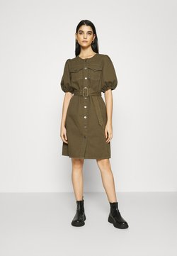 Gestuz - DILETTO DRESS - Spijkerjurk - dark olive