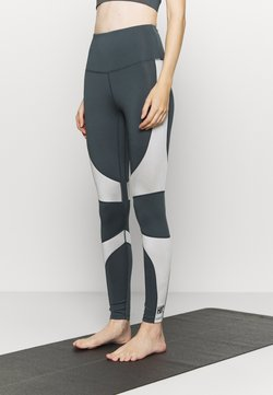 HIIT - HIGH SHINE PANEL LEGGING - Leggings - mid grey