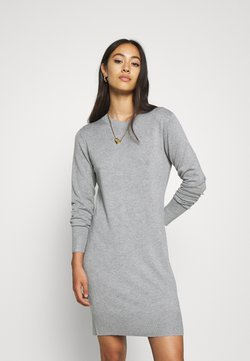 Even&Odd - JUMPER Knit DRESS - Etuikleid - mid grey melange