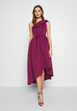 True Violet - ONE SHOULDER SKATER MIDI DRESS - Sukienka koktajlowa - berry