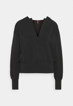 Scotch & Soda - OPEN NECK AND VOLUMNIOUS SLEEVES - Sweatshirt - black