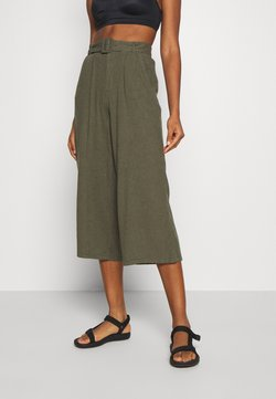 Hollister Co. - WIDE LEG  - Trousers - olive