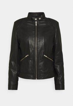 Dondup - BIKER - Leren jas - black