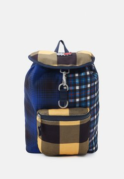 Tommy Jeans - HERITAGE BACKPACK CHECK - Reppu - blue