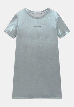 Calvin Klein Jeans - Jerseykleid - silver metallic