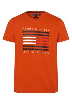 Tommy Hilfiger - T-shirt z nadrukiem - orange