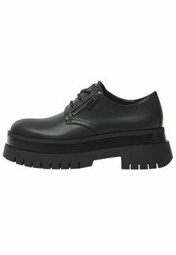 Bershka - Sznurowane obuwie sportowe - black