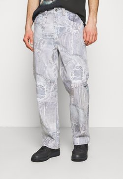 Jaded London - REALISTIC PRINT - Jeans Relaxed Fit - blue
