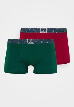 TOM TAILOR - X-MAS 2ER PACK - Shorty - red/dark green