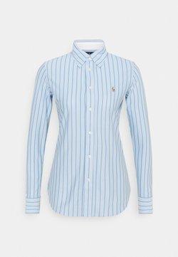 Polo Ralph Lauren - HEIDI LONG SLEEVE BUTTON FRONT SHIRT - Hemdbluse - carolina blue/white
